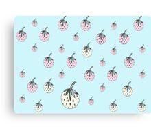 strawberry dreams blue Canvas Print