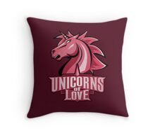 Unicorns of Love (Best quality ever) Throw Pillow