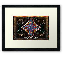 Wood Celtic Cross Framed Print