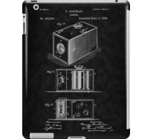 Eastman's 1888 Camera Patent Art_BK iPad Case/Skin