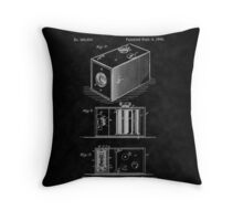 Eastman's 1888 Camera Patent Art_BK Throw Pillow