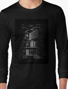 Eastman's 1888 Camera Patent Art_BK Long Sleeve T-Shirt