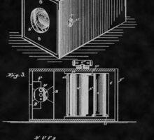 Eastman's 1888 Camera Patent Art_BK Sticker