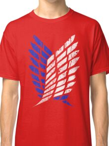 Attack On Titan - Survey Corps Logo (Blue Grunge v3) Classic T-Shirt