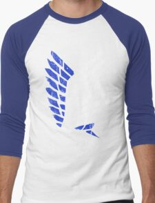 Attack On Titan - Survey Corps Logo (Blue Grunge v3) Men's Baseball ¾ T-Shirt