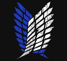 Attack On Titan - Survey Corps Logo (Blue Grunge v3) Unisex T-Shirt