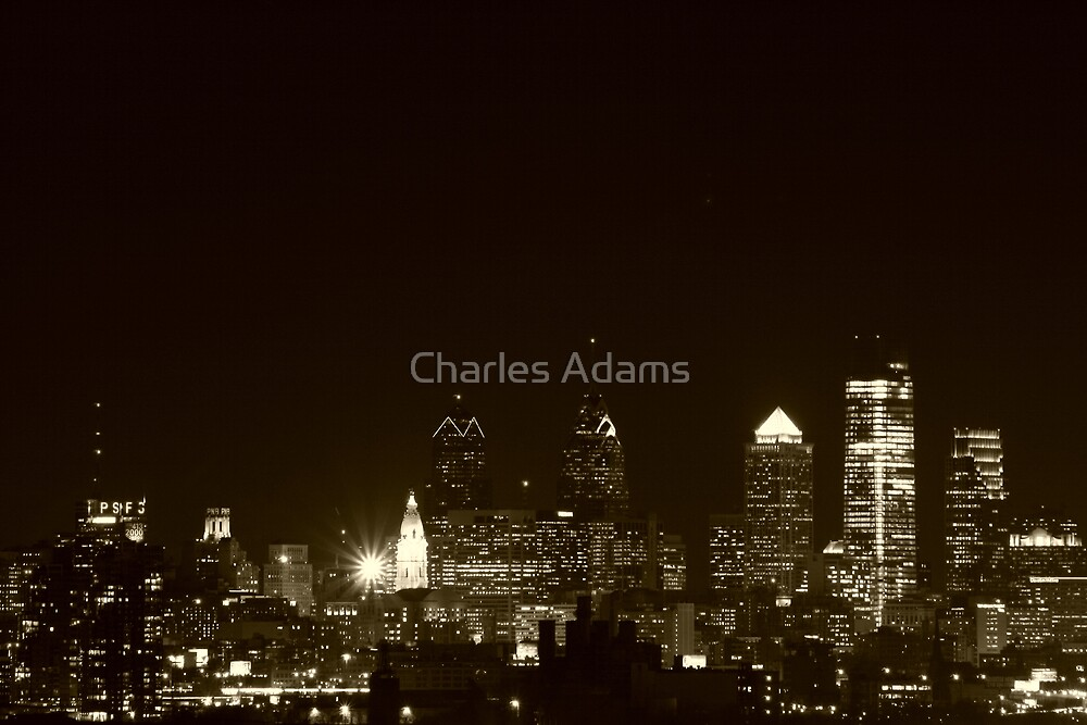 Philly at Night by Charles Adams