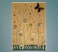 Wire Flowers by Evelyn Reinprecht