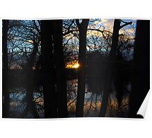 Mill Pond Sunset Poster