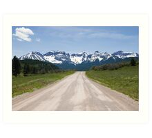 Ouray County Road 5 Art Print