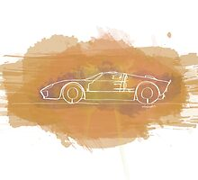 Ford GT40 - Single Line by douglaswood