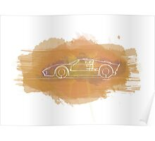 Ford GT40 - Single Line Poster