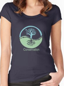 Conservation Tree Symbol aqua green Women's Fitted Scoop T-Shirt