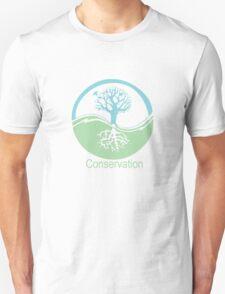 Conservation Tree Symbol aqua green Unisex T-Shirt