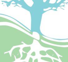 Conservation Tree Symbol aqua green Sticker