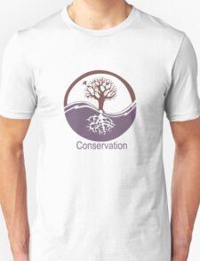 Conservation Tree Symbol Purple Brown Unisex T-Shirt