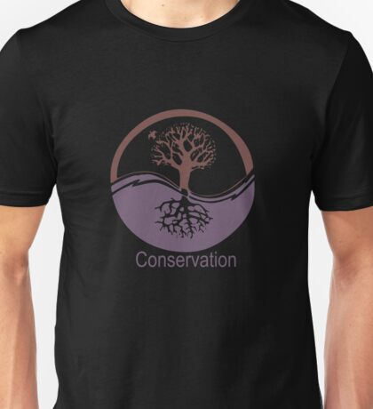 Conservation Tree Symbol Purple Brown Unisex T-Shirt