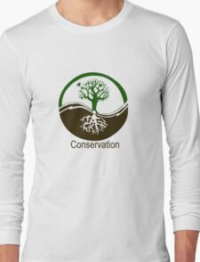 Conservation Tree Symbol brown green Long Sleeve T-Shirt
