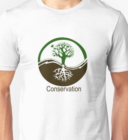 Conservation Tree Symbol brown green Unisex T-Shirt