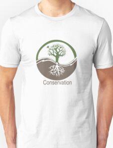 Conservation Tree Symbol brown green Unisex T-Shirt