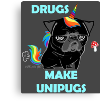black unipug Canvas Print