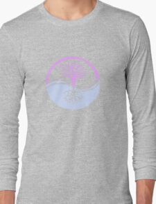 Conservation Tree Symbol Pink and Blue Long Sleeve T-Shirt