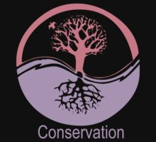 Conservation Tree Symbol Pink and Purple by Ryan Houston