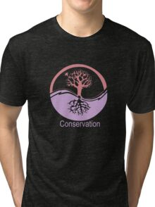 Conservation Tree Symbol Pink and Purple Tri-blend T-Shirt