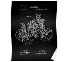 1896 Tarr Steam Fire Engine Patent Art-BK Poster