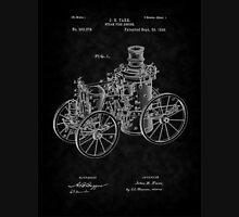 1896 Tarr Steam Fire Engine Patent Art-BK Unisex T-Shirt