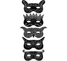 Masks Photographic Print