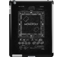 1935 Monopoly Board Game Patent-BK iPad Case/Skin