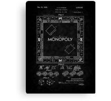 1935 Monopoly Board Game Patent-BK Canvas Print