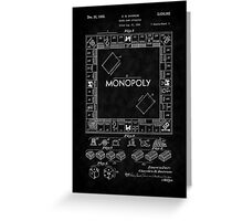 1935 Monopoly Board Game Patent-BK Greeting Card