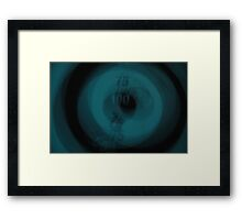 Dart Board Multiple Exposure Framed Print