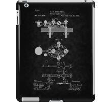 1881 Telegraph Key Patent Art-BK iPad Case/Skin