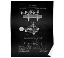 1881 Telegraph Key Patent Art-BK Poster