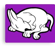 English Bull Terrier Sleeping  Canvas Print