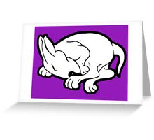 English Bull Terrier Sleeping  Greeting Card