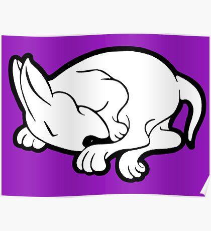 English Bull Terrier Sleeping  Poster