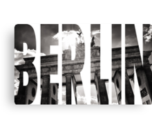 BERLIN Letter Germany Canvas Print