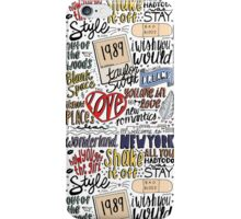 taylor swift collage COLORED iPhone Case/Skin