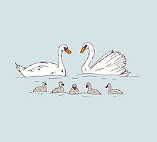 Seven Swans-a-Swimming by SVaeth