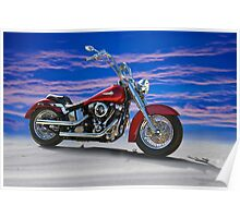 2000 Harley Davidson 'Soft Tail' Motorcycle Poster