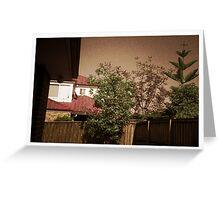 My backyard - Pinhole photography Greeting Card