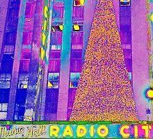 Radio City Music Hall Tree, NYC, NY by Ellen Turner