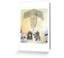 Stone Gods Favor None Greeting Card