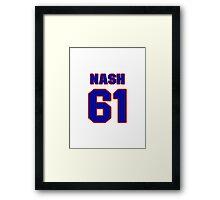National Hockey player Rick Nash jersey 61 Framed Print