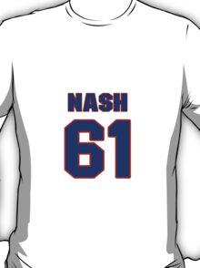 National Hockey player Rick Nash jersey 61 T-Shirt