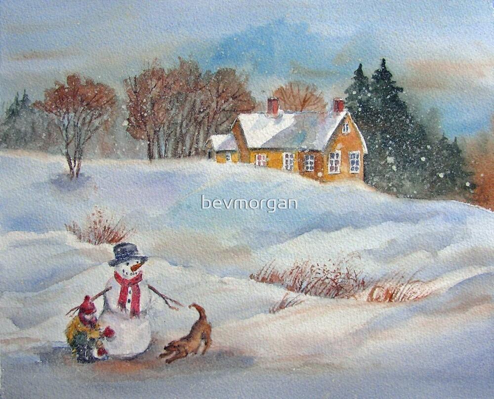 Winter Playmates by bevmorgan